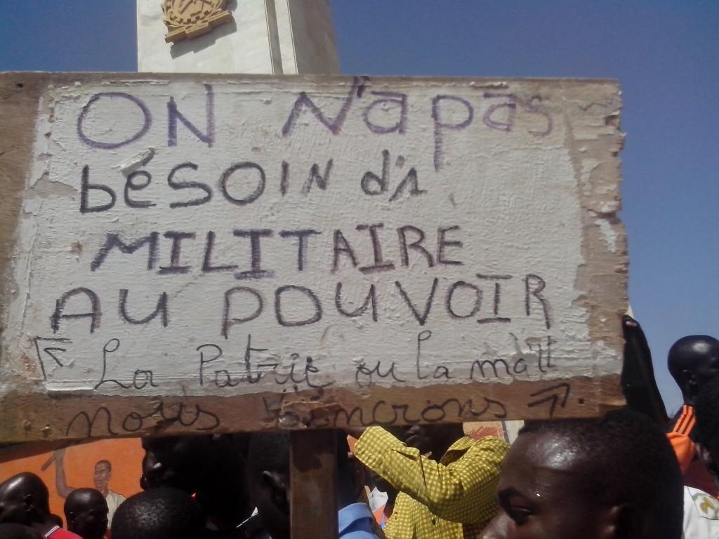 Pas de militaire au Burkina