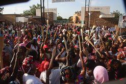 Les femmes mobilisé lors de la révolution des spatules menée par Saran Séré Sérémé