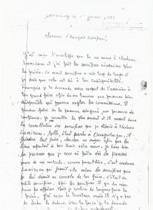 ceci est la la lettre d'un marabout transmise à François Compaoré