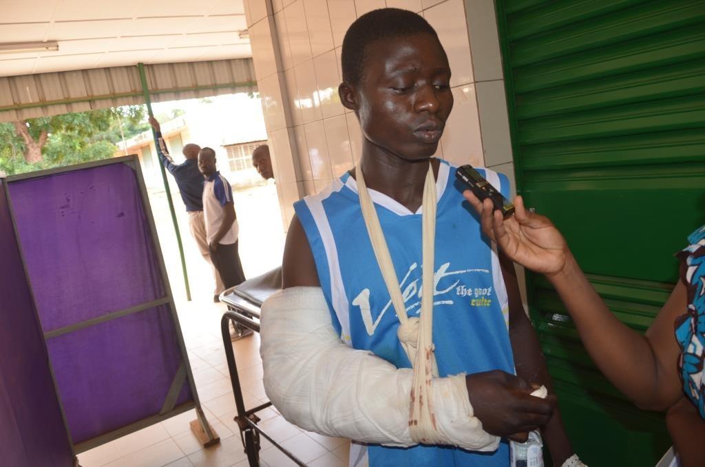 Eric Sandgié a une fracture au bras