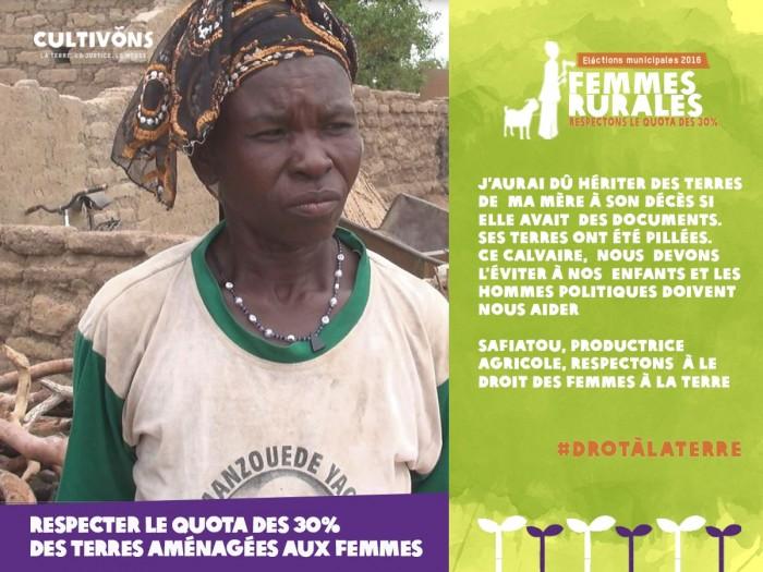 Les femmes rurales veulent avoir des titres fonciers