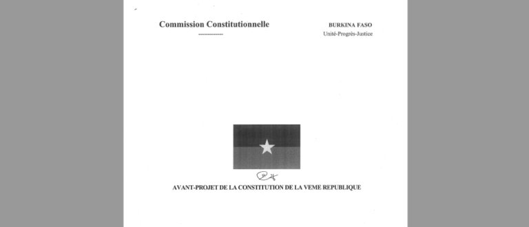 Article : Constitution du Burkina : l'avant-projet omet des questions importantes